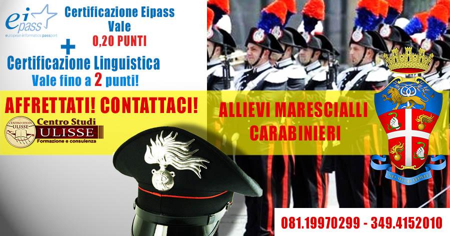 Certificazioni per allievi marescialli carabinieri 2016