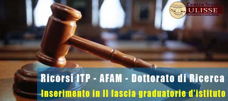 RICORSO INSERIMENTO GRADUATORIE DI ISTITUTO II FASCIA: ITP – AFAM – DOTTORI DI RICERCA