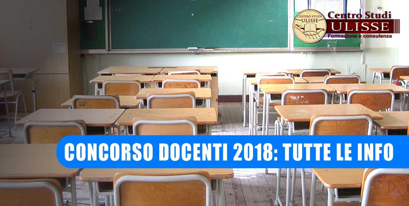 CONCORSO DOCENTI 2018: TUTTE LE INFO