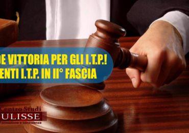 DOCENTI I.T.P. IN II° FASCIA : GRANDE VITTORIA PER LO STUDIO LEGALE DEL CENTRO STUDI ULISSE