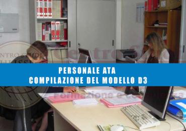 PERSONALE ATA – COMPILAZIONE DEL MODELLO D3