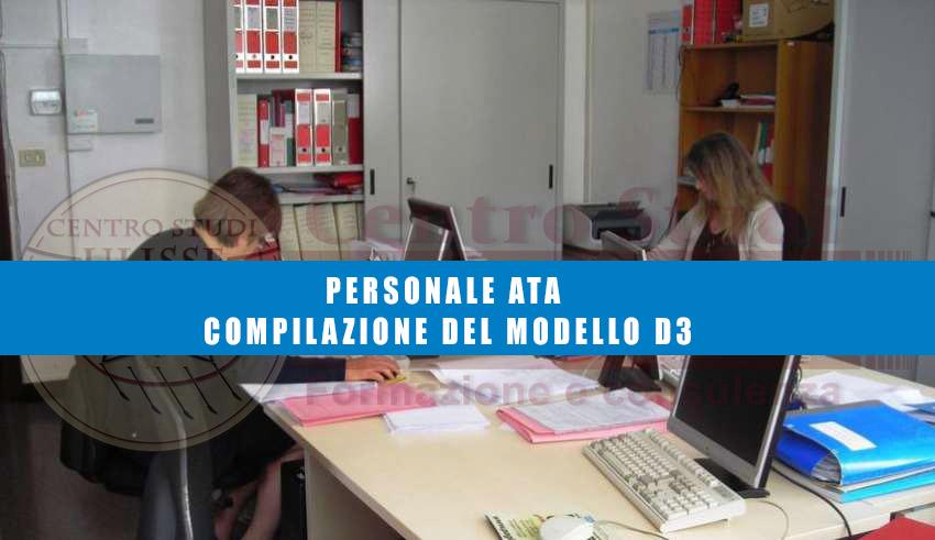PERSONALE ATA - COMPILAZIONE DEL MODELLO D3