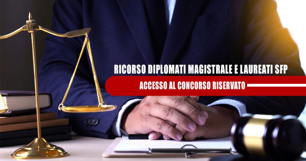 ADESIONE RICORSO DIPLOMATI MAGISTRALE E LAUREATI SFP – ACCESSO CONCORSO RISERVATO