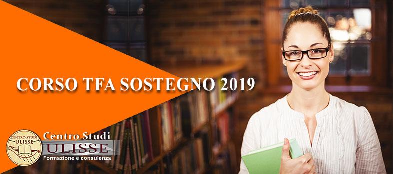 CORSO DI PREPARAZIONE AL TFA SOSTEGNO 2019