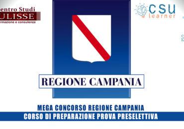 MEGA CONCORSO REGIONE CAMPANIA: CORSO DI PREPARAZIONE PROVA PRESELETTIVA