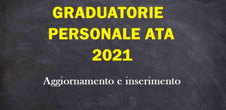 SCHEDA PUNTEGGI E TITOLI PERSONALE ATA. AGGIORNAMENTO 2021.