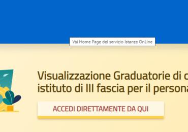Graduatorie ATA terza fascia su Istanze online . Dove accedere per controllare la propria posizione